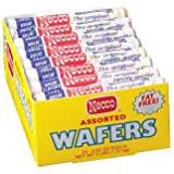Necco Assorted Original Candy Wafers 24-2.02 oz Rolls, Net Wt 3 lbs