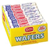 Necco Assorted Candy Wafers 2 Oz Rolls (24 Pack)