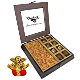 Chocholik Premium Gifts - Unique Combination Of Chocolates & Almonds With Small Ganesha Idol - Diwali Gifts