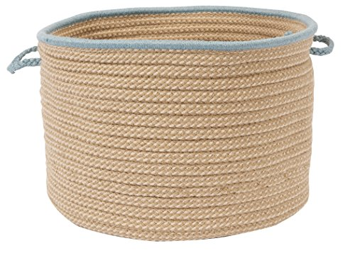 Colonial Mills Boat House Basket, 24 by 14-Inch, Light Blue