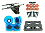 "Big Boy 180mm Longboard Trucks + 70mm Solid/Gel Wheels + ABEC 7 Bearings + 1/4"" Riser Pads"