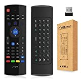 Aerb 2.4G Mini Wireless Keyboard Mouse Multifunctional W Infrared Remote Learning & [3-Gyro + 3-Gsensor] Air Control for Android Smart TV Box G Box HTPC Mini PC Windows iOS MAC Linux PS3 Xbox 360