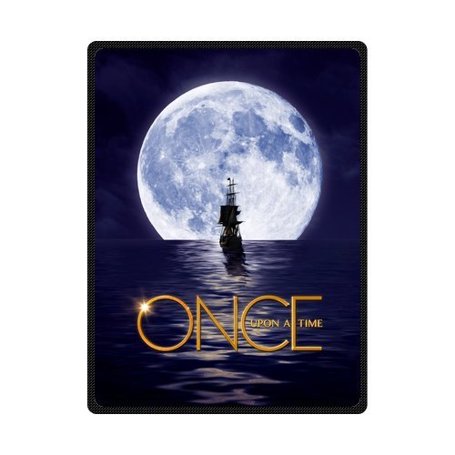 Once Upon A Time Full Moon Ship Customize Woolen Blanket Fleece Blanket Indoor and Outdoor Blanket Travel Blankets 58x80 Inches (Large) (Customize Blankets compare prices)