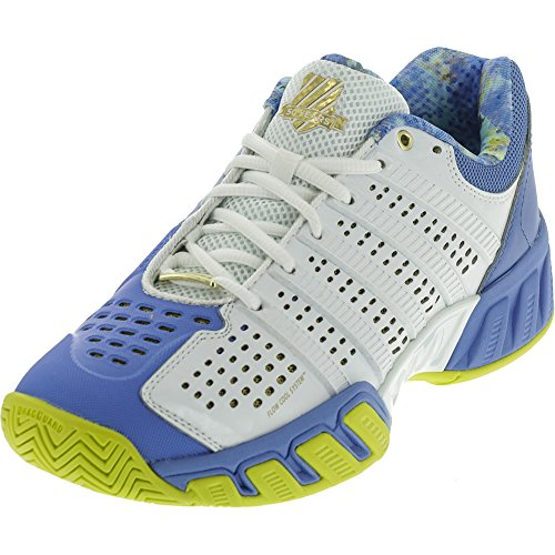 K-Swiss Women's Bigshot Light 2.5 50th Tennis Shoe, 50th/White/Ultramarine/Gold, 9 M US