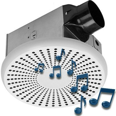 HOMEWERKS WORLDWIDE 7130-03-BT Bluetooth Bath Fan & Speaker (Bathroom Fan With Bluetooth compare prices)