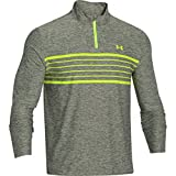 Under Armour 2014 Mens UA ColdGear Infrared Heartbeat 1/4 Zip Top Golf Pullover Green Rough/High-Vis Yellow Size:L