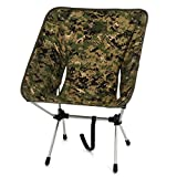 WhiteSeek アルミチェア 折りたたみ椅子 アウトドア コンパクトチェア 軽量 登山 (迷彩)
