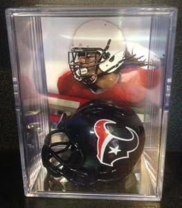Houston Texans NFL Draft Helmet Shadowbox w  Jadeveon Clowney card by Riddell