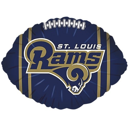 "Anagram International St Louis Rams Flat Party Balloons, 18"", Multicolor"