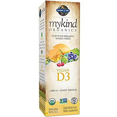 Garden of Life mykind Organics Vegan D3 Spray, 2oz Spray