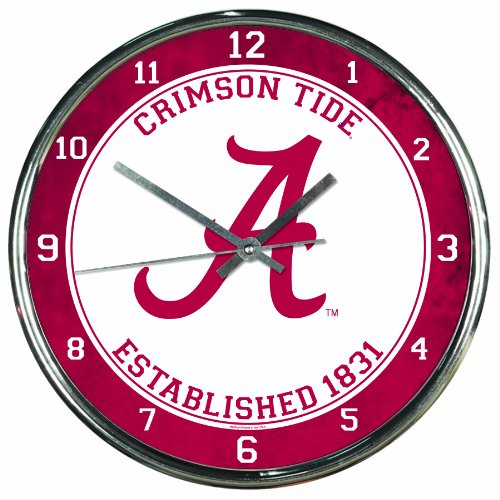 NCAA Alabama Crimson Tide Chrome Clock