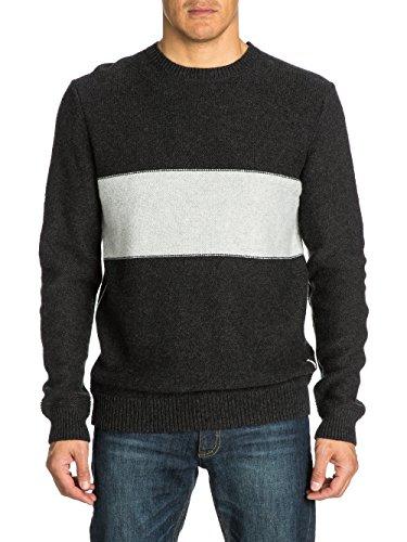 Quiksilver - Cardigan da uomo, modello Blake, grigio (Carbone scuro), M