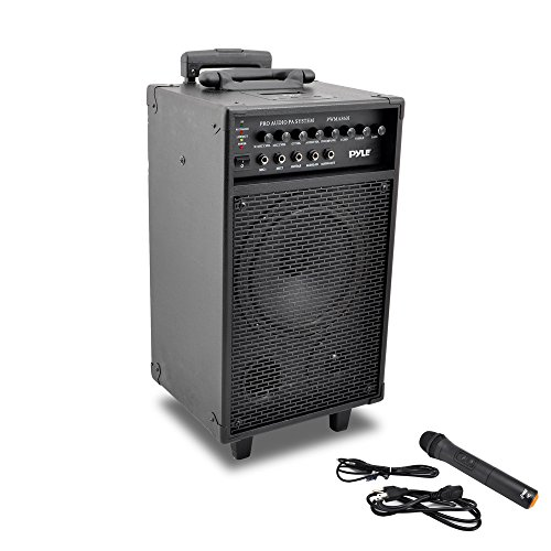 Pyle PWMA860i Wireless and Portable PA Speaker Sound System with 30-Pin iPod/iPhone Dock, Built-in Rechargeable Battery, Wireless Microphone, 500 Watt