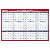 AT-A-GLANCE Wall Calendar 2016  Erasable  12 Months  Reversible for Planning Space  Horizontal  36 x 24 Inches (PM20028) by At-A-Glance [並行輸入品]