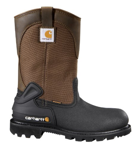 f8d6a311c208 Carhartt Men s 11-inch Brown Mud Brown Steel Toe Wellington CSA Work Boot  13 W