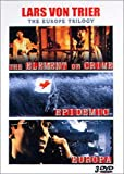 echange, troc Lars Von Trier - The Europe Trilogy : The Element Of Crime / Epidemic / Europa - Coffret 3 DVD