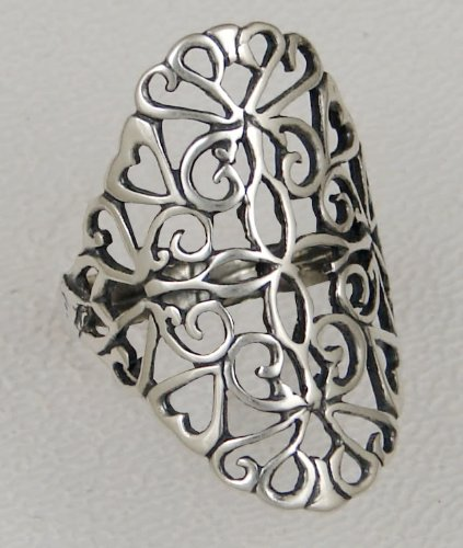 A Delicate Filigree Ring in Sterling Silver, Made in America