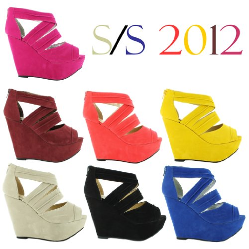 New Ladies Strappy Ankle High Heel Platform Wedge Sandals Womens Gorgeous Celebrity Girls Fashion Shoes