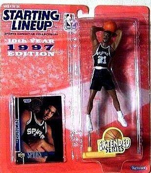 Tim Duncan Action Figure, in San Antonio Spurs Uniform – 1997 Starting Lineup 10th Year Edition Extended Series NBA Basketball by Prannoi günstig bestellen