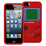 MiniSuit Game Boy Style Case for Apple iPhone 5 - TPU Silicone Skin Cover (Red)
