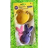 Wilton Peeps 2 Pc Easter Tin Cookie Cutter Set