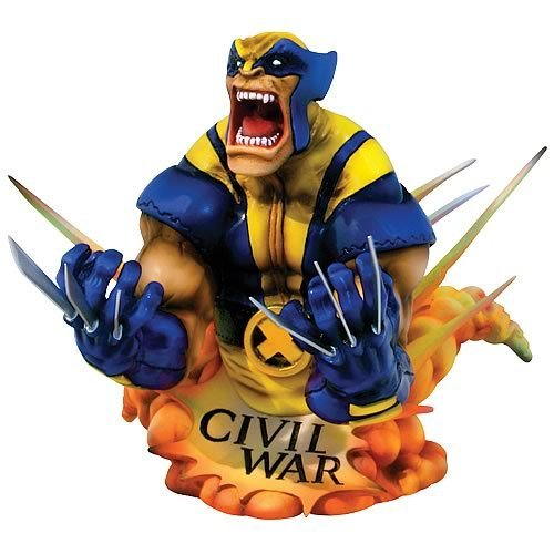 Marvel Universe Civil War Wolverine Bust - Buy Marvel Universe Civil War Wolverine Bust - Purchase Marvel Universe Civil War Wolverine Bust (Marvel Statues, Busts, Prop Replicas, Toys & Games,Categories,Action Figures,Statues Maquettes & Busts)