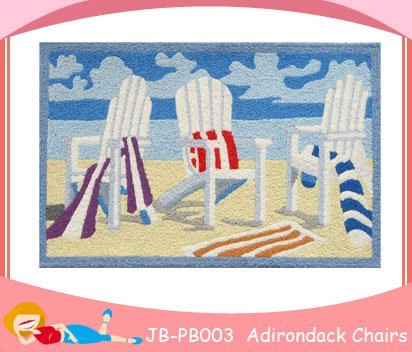 Tropical-Beach-Towel-Adirondack-Chair-Accent-Rug