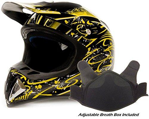 Adult Snocross Snowmobile Helmet - Yellow ( XL ) (Snow Machine Helmet compare prices)