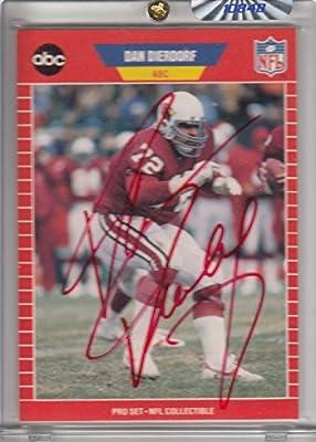 Dan Dierdorf Autographed Arizona Cardinals Trading Card