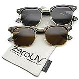 zeroUV ZV-2934f Wayfarer Sunglasses, Black/Tortoise, 49 mm