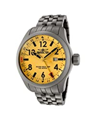 Invicta Men's 0194 Force Collection Yellow Dial Matte Grey Stainless Steel Watch
