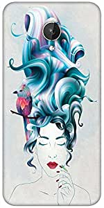 Snoogg Thinking Of Beauty Designer Protective Back Case Cover For Micromax Canvas Spark Q380
