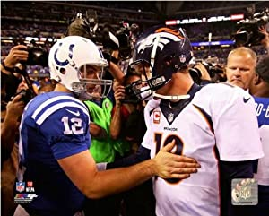 Peyton Manning (Denver Broncos) Andrew Luck (Indianapolis Colts) 2013 NFL Photo 20x24 by NFL