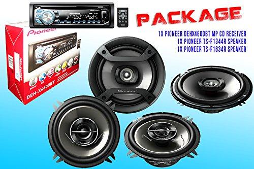 Package ! Pioneer Deh-X4600Bt Cd-Receiver + Pioneer Ts-F1634R Speaker + Pioneer Ts-G1344R Speaker