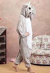 TELLOYSD Unisex Warm Kigurumi Onesie Pajamas Casual Cosplay (L(168-178CM), Grey Hippo)