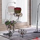 Dekoration Wohnaccessoire 57022 Blumenständer schwarz