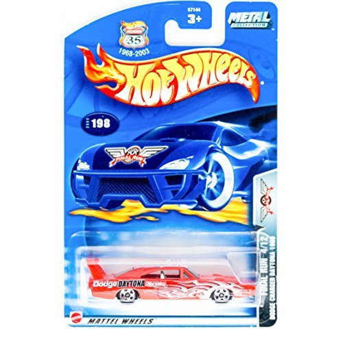 Hot Wheels 2003 Final Run Dodge Charger Daytona 1969 4/12 #198 RED - 1