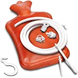 Reusable Rubber Enema Bag Kit with Attachments