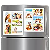 """Wind & Sea White Magnetic Picture Frame Collage For Refrigerator - Holds 10 - 4x6 Photos - Organizes Your Fridge For That Model Home Look - """"Slam-Proof"""" Flexible Magnet Photo Frame - Makes For a Great Gift - Affordable Way To Protect & Display Your Family Memories!"""