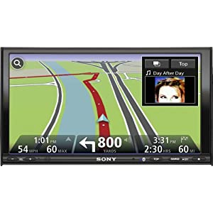 Sony XNV-770BT 7-Inch WVGA In-Dash A/V Receiver with Bluetooth, USB, Satellite/HD radio ready, Integrated Navigation from TomTom