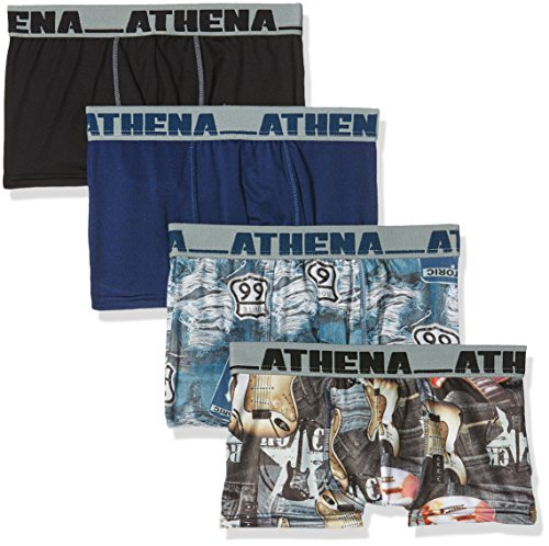 athena-us-spirit-boy-short-pack-of-4-multicoloured-bleu-arizona-noir-guitares-16-years