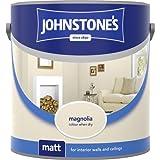 Johnstones No Ordinary Paint Water Based Interior Vinyl Matt Emulsion Magnolia 2.5 Litre