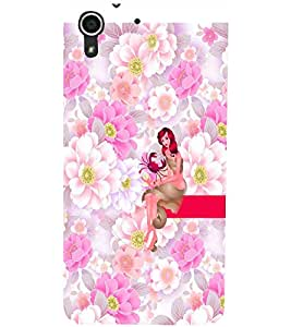 PrintDhaba Sweet Girl D-2962 Back Case Cover for HTC DESIRE 728 (Multi-Coloured)