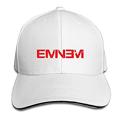 ASCHO2 Unisex Eminem Double M M&M Rapper Record Producer Songwriter Actor Adjustable Snapback Sandwich Bill Cap Baseball Cap - White