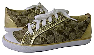 Amazon.com: Coach Barrett Signature Graffiti Gold Tennis Shoes: Shoes