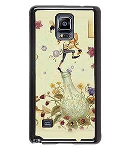 Fuson 2D Printed Cartoon Designer back case cover for Samsung Galaxy Note 4 - D4317