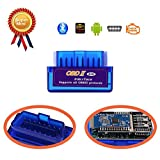 Bluetooth OBD2, LOLLDEAL MINI Bluetooth OBD2 OBD2 Scanner Car Diagnostic Scan Tool /OBDii Code Reader OBD2 Bluetooth Check Engine Light for Android and Windows System- Compatible with Torque Pro