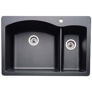 Blanco 511-642 Diamond 1-1/2 Bowl Kitchen Sink, Anthracite Finish