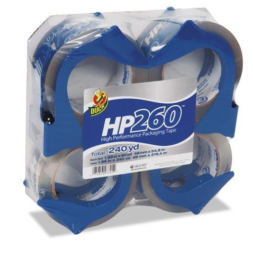 Duck - HP260 Packaging Tape w/Dispenser, 1.88 x 60yds, 3 Core, 4/Pack 00-07725 (DMi PK scotch high strength filament tape 94 x 60yds 89811 dmi rl