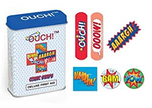 Ouch! Comic Strip Deluxe Childrens Kids Plasters in First Aid Gift Tin